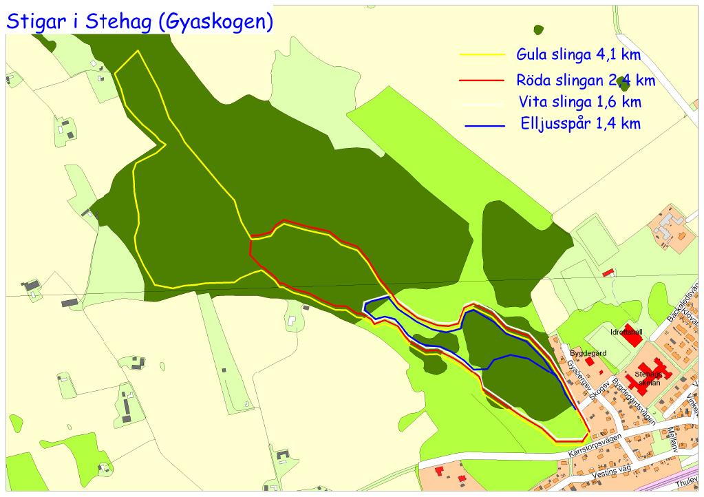 motionsspåren i Gyaskogen