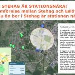 Hela Stehag är stationsnära